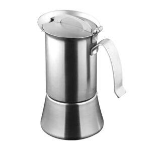 Caffettiera Inox ad induizione con adattatore per 6 tazze
